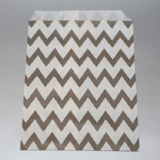 Grey Chevron Party bitty bags Set of 25/ Γκρι ζικζακ χαρτινα σακουλακια Σετ των 25